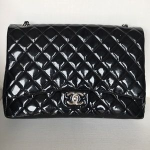 Chanel Patent Maxi Double